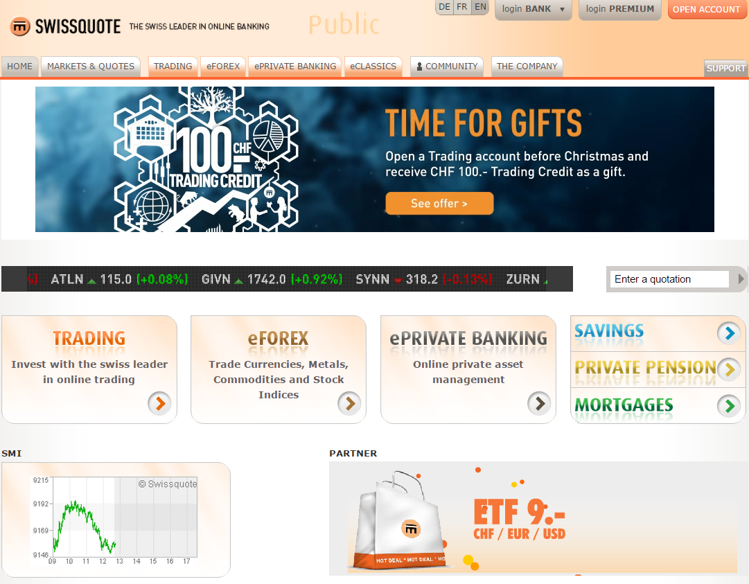 Swissquote forex broker review
