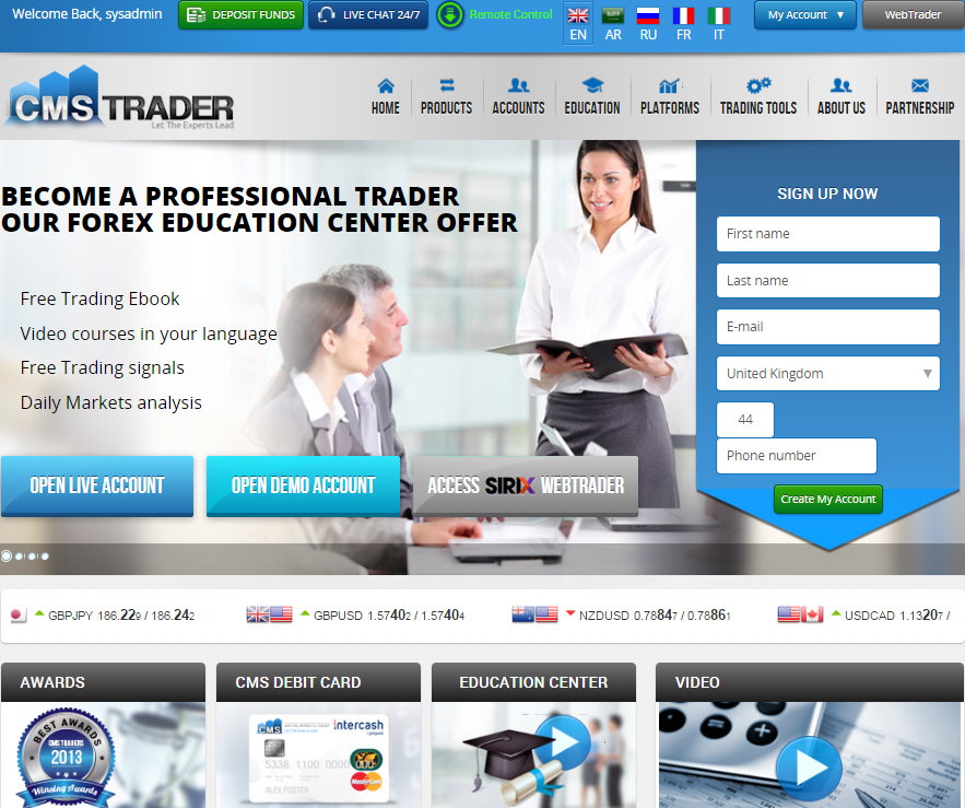 Find out more about CMSTrader. Read user reviews, see ratings and compare the best online trading platforms, features, fees, and more. Start trading now!